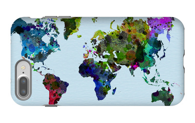 World Watercolor Map 3 iPhone 7 Plus Case by  NaxArt