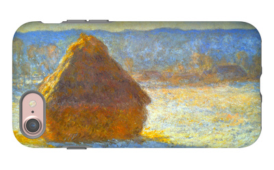 Haystack, Morning Snow Effect iPhone 7 Case by Claude Monet