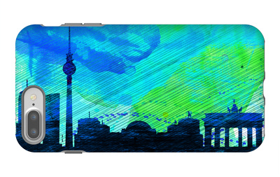 Berlin City Skyline iPhone 7 Plus Case by  NaxArt