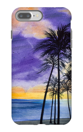 Tropic Nights II iPhone 7 Plus Case by Linda Baliko