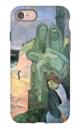 Green Christ iPhone 7 Case by Paul Gauguin