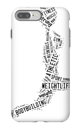 Weighlifting Pictogram With Black Wordings iPhone 7 Plus Case by  seiksoon
