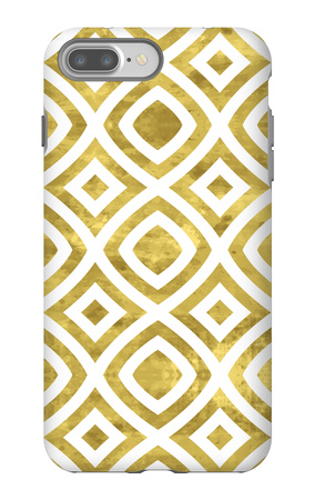 White and Gold Pattern iPhone 7 Plus Case by  Lamika