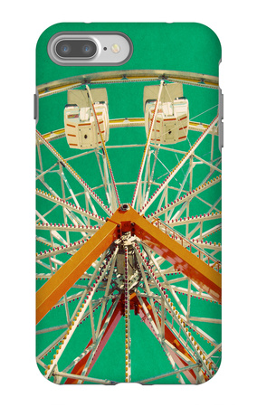 Green Ferris Wheel iPhone 7 Plus Case by Gail Peck