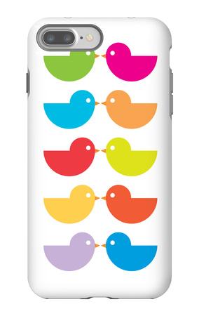 Rainbow Kiss iPhone 7 Plus Case by  Avalisa