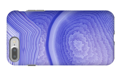 Background with Blue Agate Structure iPhone 7 Plus Case by  Dr Alex