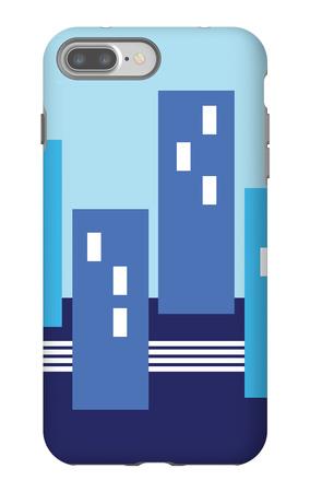 Blue Buildings iPhone 7 Plus Case by  Avalisa
