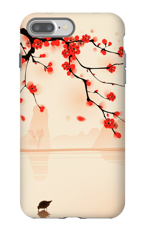 Oriental Style Painting, Plum Blossom In Spring iPhone 7 Plus Case by  ori-artiste!