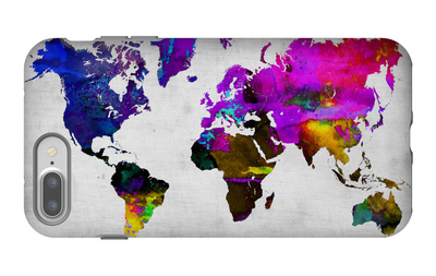 World Watercolor Map 13 iPhone 7 Plus Case by  NaxArt