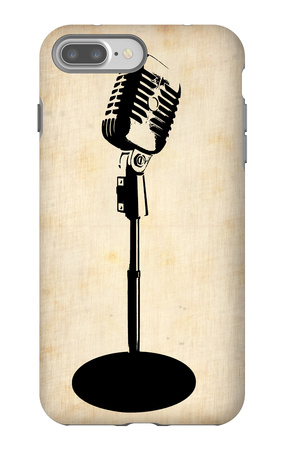 Vintage Microphone iPhone 7 Plus Case by  NaxArt