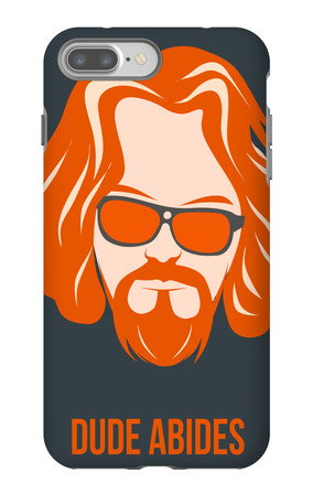Dude Abides Orange Poster iPhone 7 Plus Case by Anna Malkin