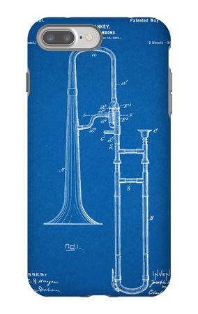 Slide Trombone Instrument Patent iPhone 7 Plus Case