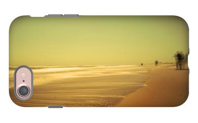 Golden Beach Landscape iPhone 7 Case by Jan Lakey