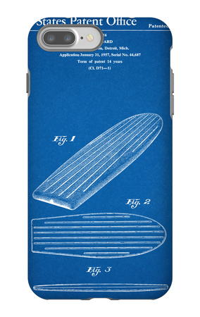 Surf Board Patent iPhone 7 Plus Case