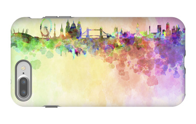 London Skyline in Watercolor Background iPhone 7 Plus Case by  paulrommer