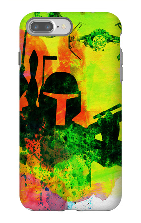 Star Warriors Watercolor 3 iPhone 7 Plus Case by Anna Malkin