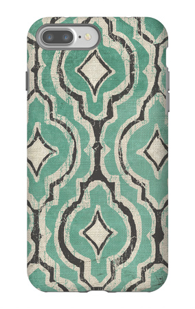 Turquoise Modele II iPhone 7 Plus Case by Elizabeth Medley