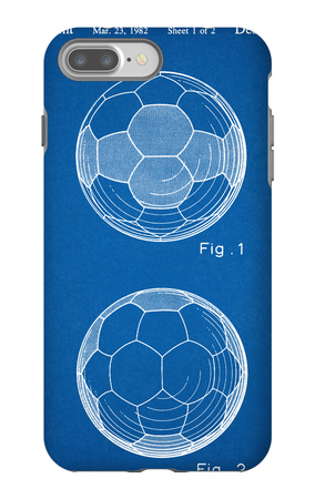 Soccer Ball Patent iPhone 7 Plus Case