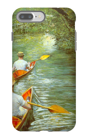 Canoeing iPhone 7 Plus Case by Gustave Caillebotte