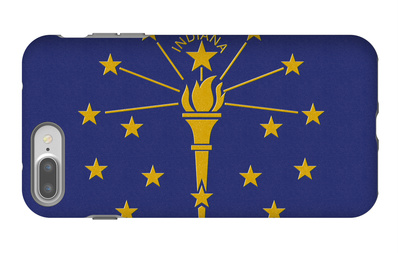 Indiana State Flag iPhone 7 Plus Case by  Lantern Press