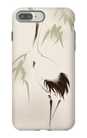 Oriental Style Painting, Red-Crowned Crane iPhone 7 Plus Case by  ori-artiste