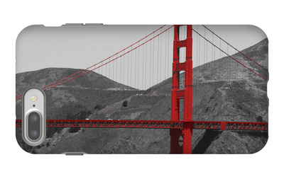 Golden Gate Bridge with Red Pop Border iPhone 7 Plus Case by Emily Navas