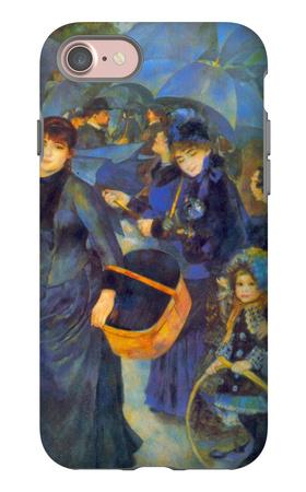Les Para Pluies iPhone 7 Case by Pierre-Auguste Renoir