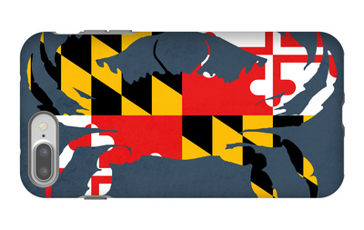 Maryland - Crab Flag - No Text iPhone 7 Plus Case by  Lantern Press