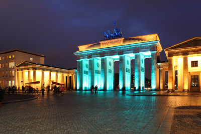 Berlin, the Brandenburg Gate, Night Photography Photographic Print by Catharina Lux