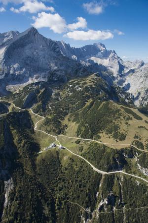 Alpspitze, Germany, Garmisch Partenkirchen, Oberland, Osterfelder Region Wettersteingebirge Photographic Print by Frank Fleischmann
