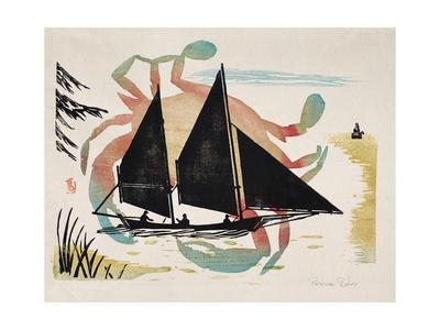 Log Canoe Giclee Print by Bob Bates