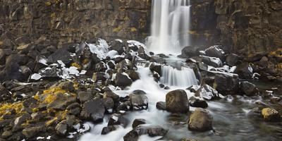 Oxarafoss, Thingvellir National Park, South Iceland, Iceland Photographic Print by Rainer Mirau