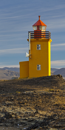 Hopsneses Lighthouse, Reykjanes (Headland), Iceland Photographic Print by Rainer Mirau