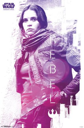 Star Wars: Rogue One- Jyn Rebel Menace Prints
