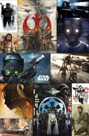 Star Wars: Rogue One- Key Moments Collage Póster