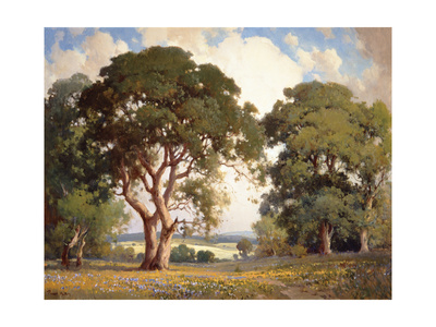 Oaks and Wildflowers Art by Percy Gray