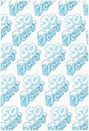 SO ICEY Cold Block Flat 3D Pattern Posters