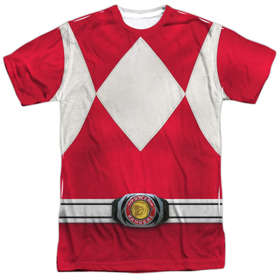 Power Rangers- Red Ranger Costume Tee Sublimated