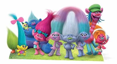 Trolls - True Colours Group Cutout Figura de cartón