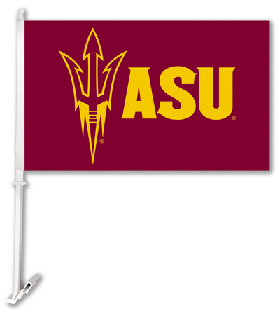 NCAA Arizona State Sun Devils Car Flag with Wall Bracket Flag