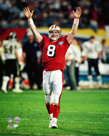 Steve Young Super Bowl XXIX Action Photo
