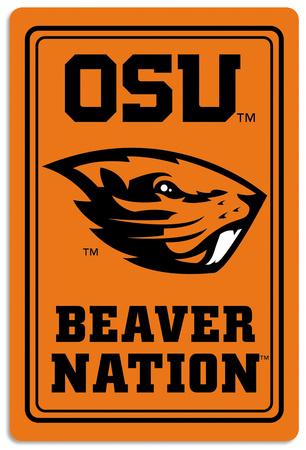 NCAA Oregon State Beavers Tin Sign