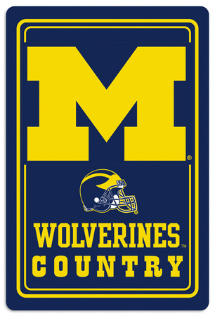 NCAA Michigan Wolverines Tin Sign