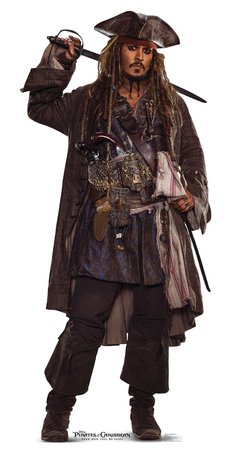 Jack Sparrow 2 - Pirates of the Caribbean 5 Cardboard Cutouts