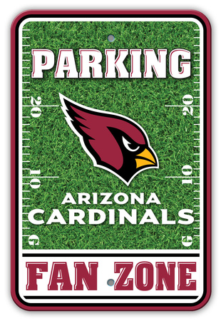 NFL Arizona Cardinals Field Zone Parking Sign Wall Sign
