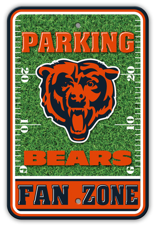 NFL Chicago Bears Field Zone Parking Sign Wall Sign