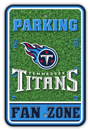 NFL Tennessee Titans Field Zone Parking Sign Wall Sign