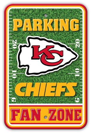 NFL Kansas City Chiefs Field Zone Parking Sign Wall Sign