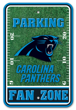 NFL Carolina Panthers Field Zone Parking Sign Wall Sign