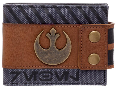Star Wars Rogue One - Rebel Snap Bi-Fold Wallet with Metal Logo Badge Wallet